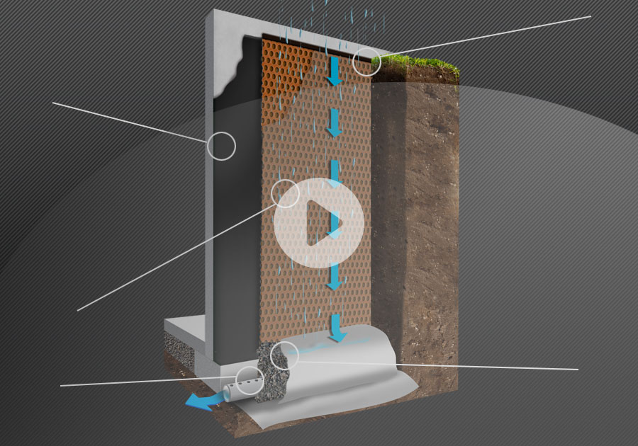 fixation membrane de fondation fissure. Black Bedroom Furniture Sets. Home Design Ideas